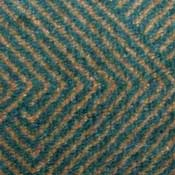 Green and Blue Lattice Printed Carpet