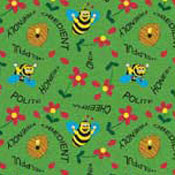 Bee Attitudes - Green Printed Carpet