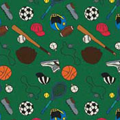 Multi-Sport - Green Printed Carpet