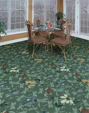 Flower Garden Printed Carpet