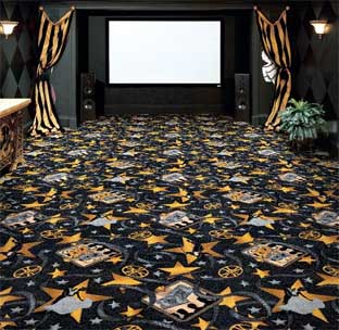 Silver Screen Printed Carpet