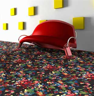 Splatter Paint Printed Carpet