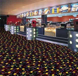 Streamers and Stars Printed Carpet