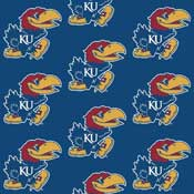 University of Kansas Jayhawks Collegiate Broadloom Carpet and College Area Rugs