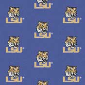 Louisiana State University Tigers Collegiate Broadloom Carpet and College Area Rugs