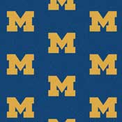 University of Michigan Wolverines Collegiate Broadloom Carpet and College Area Rugs