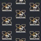 University of Missouri Tigers Collegiate Broadloom Carpet and College Area Rugs