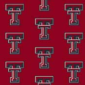 Texas Tech University Red Raiders Collegiate Broadloom Carpet and College Area Rugs