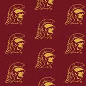 University of Southern California Trojans Collegiate Broadloom Carpet and College Area Rugs