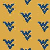 West Virginia University Mountaineers Collegiate Broadloom Carpet and College Area Rugs