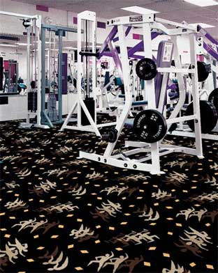 Fitness Zone Printed Carpet