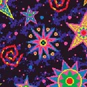 Printed Carpet Kaleidoscope Starburst