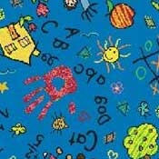 Printed Carpet Kid Essentials Scribbles