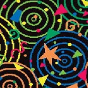 Printed Carpet Kaleidoscope Twilight Zone