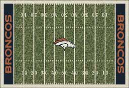 Denver Broncos NFL Area Rugs and Mats