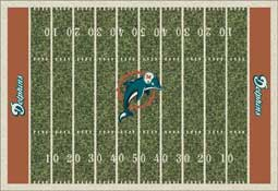 Miami Dolphins NFL Area Rugs and Mats