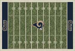 Elegant St Louis Rams C1087 Football Rug