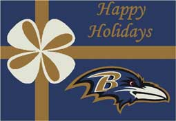 Baltimore Ravens NFL Holiday Area Rugs and Mats