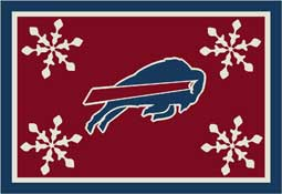 Buffalo Bills NFL Holiday Area Rugs and Mats