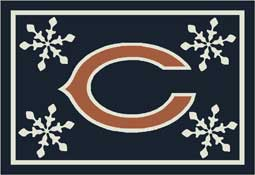 Chicago Bears NFL Holiday Area Rugs and Mats