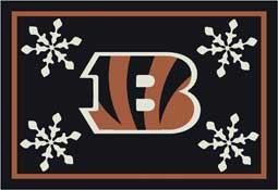 Cincinnati Bengals NFL Holiday Area Rugs and Mats