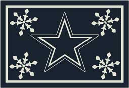 Dallas Cowboys NFL Holiday Area Rugs and Mats
