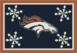 Denver Broncos NFL Holiday Area Rugs and Mats