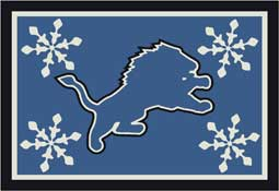 Detroit Lions NFL Holiday Area Rugs and Mats