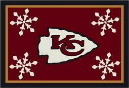 Kansas City Chiefs NFL Holiday Area Rugs and Mats