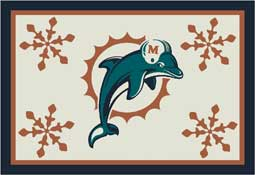 Miami Dolphins NFL Holiday Area Rugs and Mats
