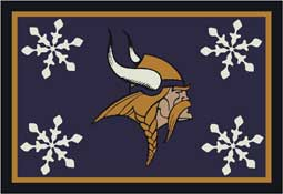 Minnesota Vikings NFL Holiday Area Rugs and Mats