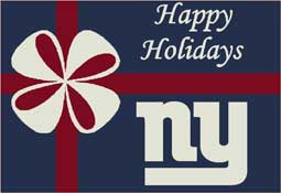 New York Giants NFL Holiday Area Rugs and Mats