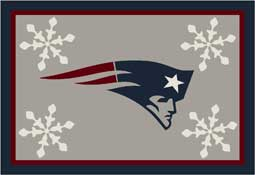 New England Patriots NFL Holiday Area Rugs and Mats