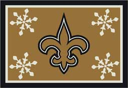 New Orleans Saints NFL Holiday Area Rugs and Mats