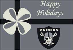Oakland Raiders NFL Holiday Area Rugs and Mats