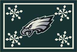 Philadelphia Eagles NFL Holiday Area Rugs and Mats