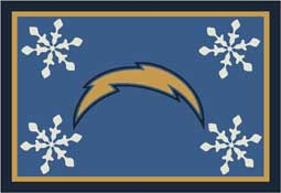 San Diego Chargers NFL Holiday Area Rugs and Mats
