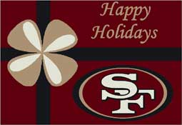 San Francisco 49ers NFL Holiday Area Rugs and Mats