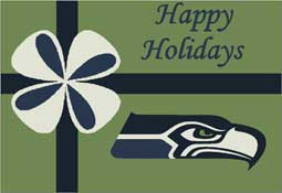 Seattle Seahawks NFL Holiday Area Rugs and Mats