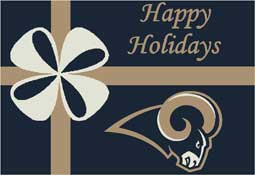 St. Louis Rams NFL Holiday Area Rugs and Mats