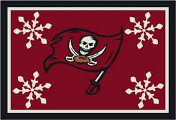 Tampa Bay Bucaneers NFL Holiday Area Rugs and Mats