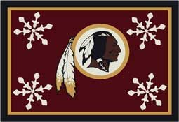 Washington Redskins NFL Holiday Area Rugs and Mats