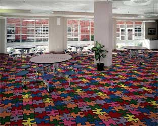 Puzzled Printed carpet