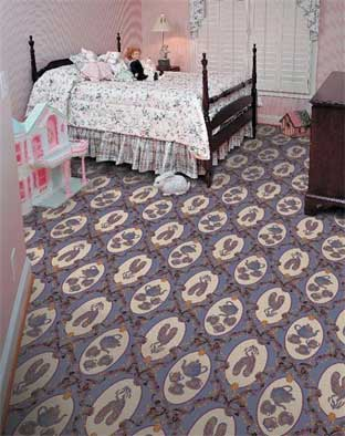Ribbons & Bows Printed Carpet