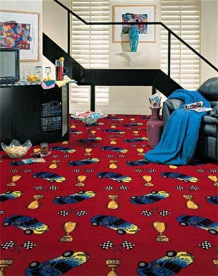 Start Your Engines Printed Carpet
