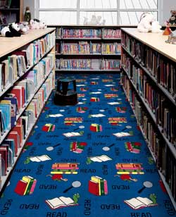 Bookworm Kid Carpet Tiles Modular Carpet Tiles