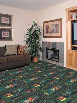 Tiny Town Kid Carpet Tiles Modular Carpet Tiles