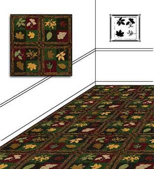 Woodland Trail Printed Carpet