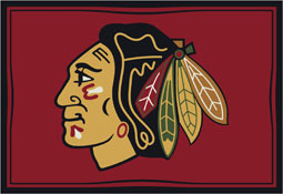 Chicago Blackhawks NHL Area Rugs and Mats