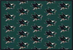 San Jose Sharks NHL Area Rugs and Mats